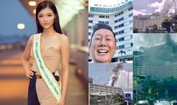Kiều Loan vừa lên đường đến Venezuela, địa điểm tổ chức Hoa hậu Hòa bình đã bốc cháy dữ dội khiến người hâm mộ lo lắng