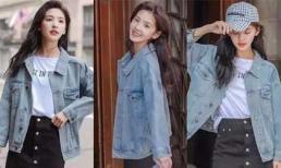 Áo denim jacket và quần culottes vẫn hot điên đảo, cứ mặc theo cách này là chị em đủ xinh đẹp suốt mùa thu