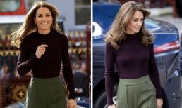 Sự thay đổi tinh tế của Công nương Kate về phong cách phù hợp với tiết trời thu