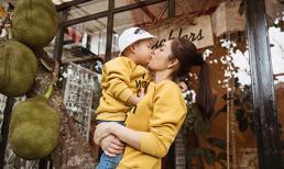 Dương Cẩm Lynh mặc đồ đôi cùng con trai trong ngày sinh nhật