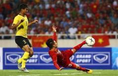 Quang Hải khiến cho Malaysia lần thứ 3 ôm hận trên sân Mỹ Đình