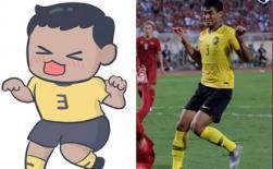 Cầu thủ Malaysia nổi nhất mạng xã hội với dáng điệu hài hước 'đang đi làm nail thì bắt đá bóng, quỷ sứ à'