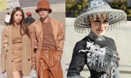 Khổng Tú Quỳnh, Kelbin Lei diện đồ hợp tông, Hoa hậu Tuyết Nga gây choáng khi đem Quốc phục phá cách đến Seoul