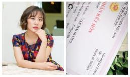 Văn Mai Hương bất ngờ đăng giấy đăng ký kết hôn?