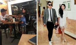 Chí Nhân lộ loạt ảnh dẫn con trai đi ăn với bạn gái lạ mặt, rộ nghi vấn đã chia tay Minh Hà
