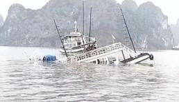 Va chạm với tàu chở đá, tàu du lịch chìm trên vịnh Hạ Long