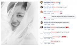 Bị dân mạng bắt bẻ chi tiết kết hôn giả để PR sản phẩm mới, Văn Mai Hương tung luôn ảnh cô dâu, sao Việt tấp nập chúc mừng