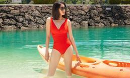Hoa hậu Hà Kiều Anh phô diễn đường cong tuyệt mỹ ở tuổi 44