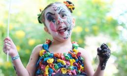 """Không thể nhịn cười trước hình ảnh hóa trang của con gái """"Mỹ nhân đẹp nhất Philippines"""" trong tiệc Halloween sớm"""