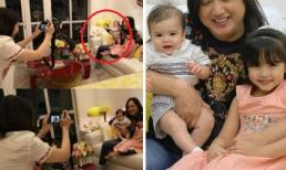 Marian Rivera làm phó nháy cho 2 con, biểu cảm của cậu út 6 tháng tuổi mới đáng chú ý