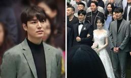 Đi đám cưới nhà người ta, Lee Min Ho đã đẹp lồng lộn lại còn đứng cạnh cô dâu làm nhân vật chính bị lu mờ