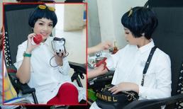 'Chuồn chuồn ớt' Ngọc Khuê cùng sinh viên về trường cũ hiến máu tình nguyện