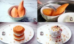 Biến tấu món ăn từ khoai lang và sữa chua ngon miệng cho bữa sáng, ăn hoài không béo còn đẹp da