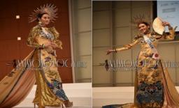 Tường San catwalk tự tin với quốc phục 'lưỡng long chầu nhật' tại Miss International 2019