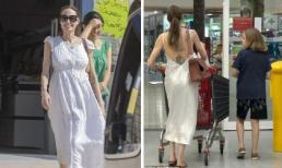"""Thoát hình ảnh """"phù thủy"""" mặc đồ đen, Angelina Jolie giờ lại yêu màu trắng và thích phong cách gợi cảm"""