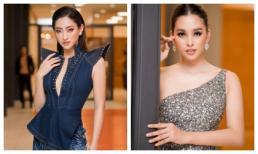Hoa hậu Thuỳ Linh diện váy jean xẻ ngực cá tính, Tiểu Vy khoe nhan sắc nữ thần