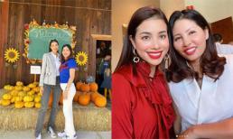 Hậu bị chỉ trích vì ngồi lên bí ngô, Phạm Hương vui vẻ đưa mẹ đi chơi Halloween ở Mỹ