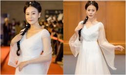 Diễn viên Phương Oanh cosplay nàng Tiểu Long Nữ trên thảm đỏ Fashion Week