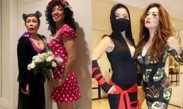 Halloween của sao Việt hải ngoại: Ông xã Hoài Phương chơi lớn giả gái, Việt Hương hóa tiên hắc ám