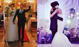 Chia sẻ khoảnh khắc hiếm trong hôn lễ 7 năm trước, Louis Nguyễn hết lời khen bà xã Hà Tăng