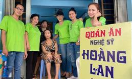 Hoa hậu Diễm Hương cùng nhóm bạn nghệ sĩ đến thăm và phụ giúp quán ăn của nghệ sĩ Hoàng Lan