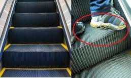 Bề mặt thang cuốn thường có những khe sâu, có phải nó có tác dụng 'đánh sạch' đế giày dép?