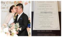 Lộ thiệp cưới và những quy định trong đám cưới Giang Hồng Ngọc