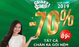 Edena khiến khách hàng sốc đến phát ngất với chương trình Crazy sale 77%++ cuối cùng năm 2019