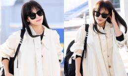 Lên đường sang Việt Nam, 'Hoàng hậu Ki' Ha Ji Won khiến CĐM 'nức nở' với nhan sắc xinh đẹp và style trẻ trung ở tuổi 41