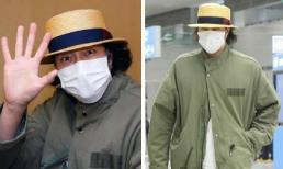 """Dân mạng hoang mang trước cách ăn mặc """"nữ tính"""" của So Ji Sub tại sân bay"""