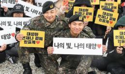 Taeyang và Daesung (BIGBANG) vui mừng khi được 1000 fan vây kín trong ngày chính thức xuất ngũ