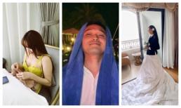 Những khoảnh khắc lầy lội của dàn khách mời trong đám cưới Nhi - Thắng: BB Trần quấn khăn làm đầm, Minh Hằng rủ Khả Ngân khâu áo