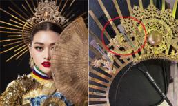 Sát giờ thi chung kết Hoa hậu Quốc tế, trang phục dân tộc Tường San bất ngờ gặp sự cố