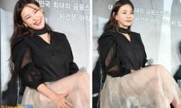 Chiếc váy mỏng tang của 'Hoa hậu gợi cảm nhất xứ Hàn' thách thức người nhìn