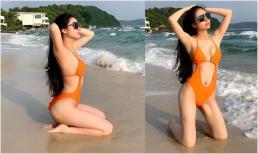 Hoa hậu Dân tộc Ngọc Anh diện bikini phô diễn đường cong nóng bỏng