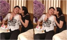 Lê Thúy tình cảm hôn ông xã Đỗ An trong tiệc sinh nhật