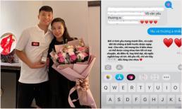 Bà xã giàu có gửi lời yêu thương tới Dũng trung vệ trước trận đấu gặp UAE