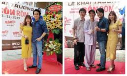 'Cậu ba Duy' Cao Minh Đạt hiếm hoi đưa vợ đi sự kiện, ông bầu Phước Sang tươi tắn hơn khi xuất hiện