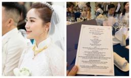 Cưới cùng thời điểm với Giang Hồng Ngọc, thực đơn hôn lễ của Bảo Thy cũng hoành tráng không kém chị nhường em