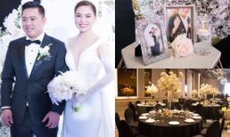 Trực tiếp đám cưới Giang Hồng Ngọc: Cô dâu chú rể làm lễ trên sân khấu trong sự chúc phúc của gia đình và bạn bè