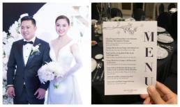 Thực đơn trong đám cưới Giang Hồng Ngọc toàn sơn hào hải vị