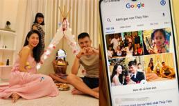 Biết viết chữ, con gái Thuỷ Tiên liền lên google tìm kiếm về mình