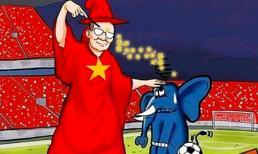 Việt Nam - Thái Lan: Ảnh chế thầy Park thu phục được chú 'Voi chiến', nấu lẩu Thái chiêu đãi toàn dân