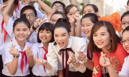 Lý Nhã Kỳ tài trợ 500 triệu học bổng nhân dịp quay về trường cấp 2