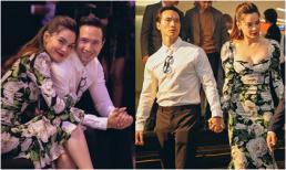 Hà Hồ - Kim Lý lại 'tình bể bình' nắm tay nhau không rời khi dự sự kiện ở thủ đô