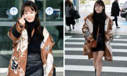 Park Min Young gây náo loạn khi khoe chân thon, biến sân bay trở thành sàn catwalk