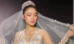 Minh Hằng khoác áo cô dâu đẹp 'hút hồn', cộng đồng mạng lại hỏi khi nào cưới?