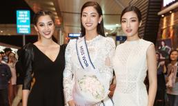 Dàn Hoa hậu, Á hậu 'khủng' đến sân bay cổ vũ Lương Thùy Linh trước giờ khởi hành tới Miss World