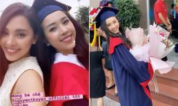 Hoa hậu Tiểu Vy đến tận trường chúc mừng Á hậu Thúy An tốt nghiệp cử nhân