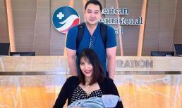 Lan Khuê khoe nhan sắc đỉnh cao khi xuất hiện cùng chồng con sau 3 ngày sinh